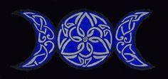 Triple moon...Celtic knot tattoo design love :)