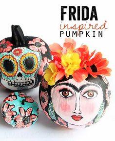 Amazing! Frida inspired #pumpkin DIY