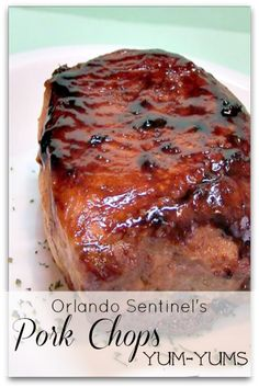 Soaked in a savory marinade, these pork chops can be baked or cooked on the stove. They are great either way; just depends on your cooking style! Bakerette.com