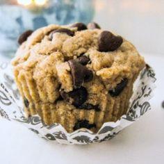 single serve Skinny Chocolate Chip Cupcake - It's healthy, too!