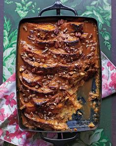 Pumpkin Bread Pudding with Dulce de Leche