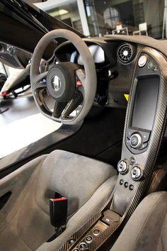 McLaren P1 driver cockpit