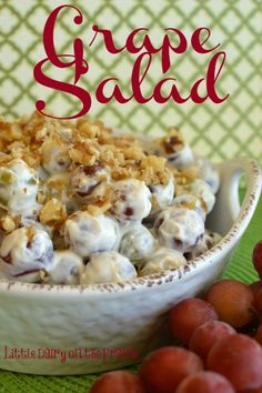 Red and green grapes make a festive salad for the holidays!