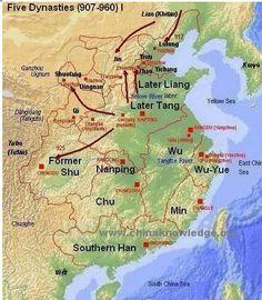 Period of Disunion: 5 dynasties (908-960AD)