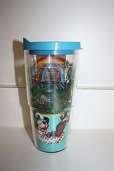 NEW Disney Aulani Beach Mickey Mouse Donald Duck Minnie Goofy Tumbler 24oz