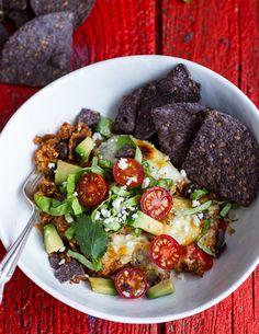 Cheesy Black Bean + Quinoa Taco Bake. - Half Baked Harvest