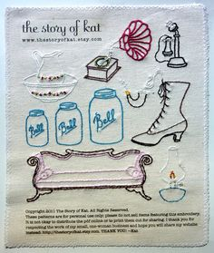 Antique Shop Embroidery Pattern by thestoryofkat on Etsy