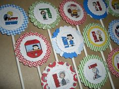Cupcake Toppers cupcak topper, birthday parties, snoopi parti, birthday cupcakes, snoopi birthday, peanut birthday, parti idea, cupcake toppers