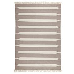 Bark Paddle Stripe Cotton Dhurrie | Serena & Lily