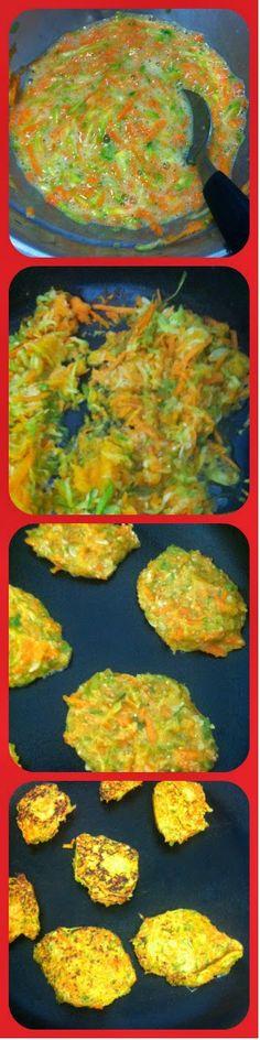croquetas de zanahoria y zuccini