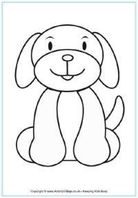 Hond kleurplaat