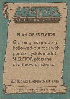 Skeletor in MOTU trading card