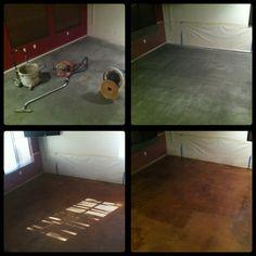 DIY acid stain concrete floors