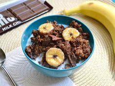 chocolate banana baked oatmeal
