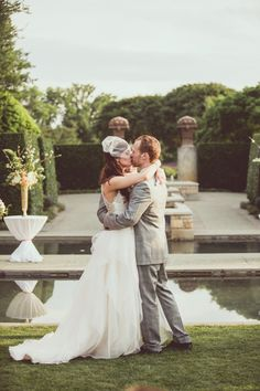 ceremony by the water! photo by Amy Zumwalt Photography http://ruffledblog.com/dallas-arboretum-wedding #ceremonies