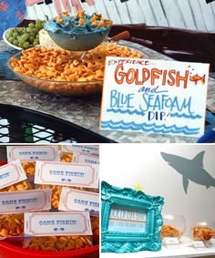 Modern Country Designs: Fishin Country: Fishing Theme Party dip, modern country, country design, blue, theme parties, food, goldfish party, fishing party, parti idea