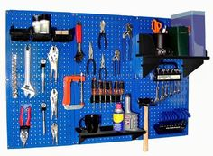 Pegboard Organizer Wall Control 4 ft. Metal Pegboard Standard Tool Storage Kit with Blue Toolboard and Black Accessories by Wall Control, http://www.amazon.com/dp/B00AO5LBCM/ref=cm_sw_r_pi_dp_Muufrb0NG9MRF