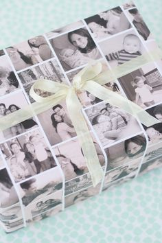 Such a cute idea to wrap mother's day gifts.