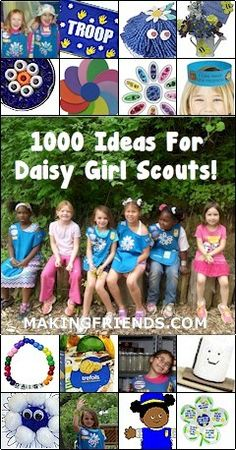 Tons of Daisy Girl Scout Ideas, crafts, journeys, swaps free printables and more! http://www.makingfriends.com/scouts/Daisy.htm