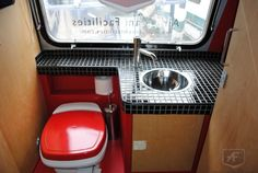 25ft 1971 Airstream Land Yacht interior bathroom