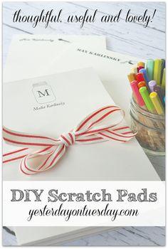 DIY Scratch Pads  -