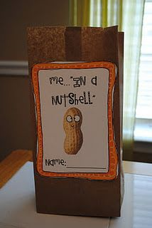 """Me in a Nutshell."" Have girls/ladies write down little facts about themselves and put them in a ""nutshell."" Cute!..... Fun way to get to know activity."