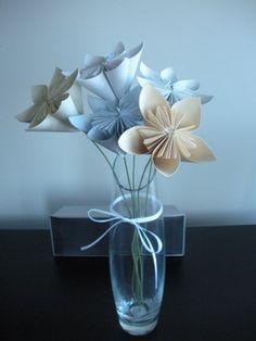 centerpiece idea? :  wedding diy flowers kusudama flower purple reception white yellow Kusudama Flowers