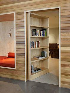 Secret bookshelf door! So cool!