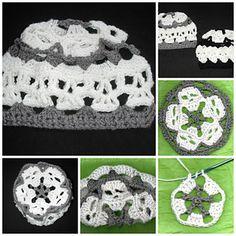 Creepy Skull Mandala Hat by Spider Mambo on Ravelry-pattern-$1.00