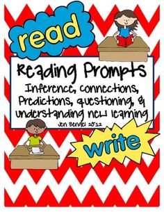 I've been using these printables for grades as students work independently during the reading workshop.  Included are response pages and bookmarks that cover inferences, connections, predictions, questions, and understanding new learning.  There are multiple suggestions for using these printables.  3 reading CCSS are linked to this resource.