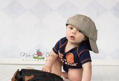 Photography, baby boy, one year session, baseball, Detroit Tigers