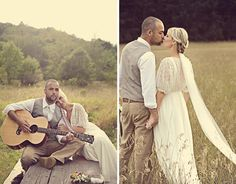 Casual, charming country wedding dress