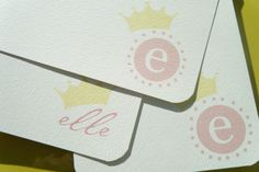 Little Crown Personalized Stationery and Sticker Gift Set