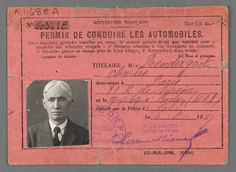 Charles Prendergast's French driver's license at Williams College Museum of Art, Prendergast Archive and Study Center