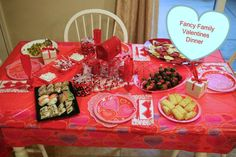 Fancy Family Valentines Dinner, Decor from Dollar Store, Great tradition