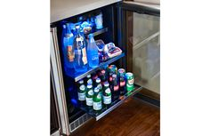 Top Floor counter/cabinet/fridge/freezer unit on the left or right as you look at bathroom from inside of the top room? MARVEL Professional Glass Door Refrigerator (MPRO6GARM) #undercounter