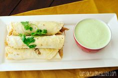 Sweet Pork Taquitos Grande with Copycat Cafe Rio Creamy Tomatillo Dressing - Cupcake Diaries