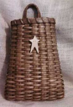 Country Primitive Wall Basket by basketmamma on Etsy, $25.00
