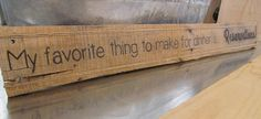 Kitchen Saying Wooden Pallet Sign