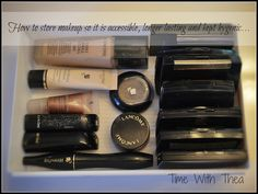 Great tips on how to store makeup AND suggested lengths of time to keep makeup before it expires!