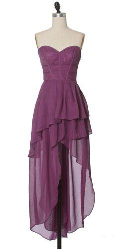 I like asymmetrical dresses.