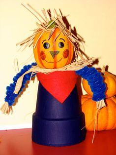 Thanksgiving Crafts Preschool Craft HAPPY CLAYPOT SCARECROW