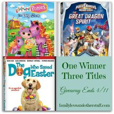 Win Three New Releases | Lalaloopsy Ponies, The Dog Who Saved Easter, and Power Rangers Megaforce. Ends 4/11.