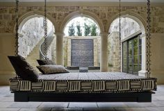 LUXE Show Home Gallery | Platinum Series Homes by Mark Molthan home interiors, hang bed, hanging beds, moroccan design, outdoor living, chain, bed designs, patio, swing