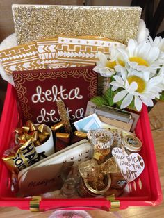 Tri Delta Little Basket! little baskets, sorority basket, big little basket, tridelta