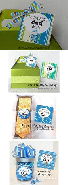 24 Fun Father's Day Gift Tags that can be used in lots of ways-Check out all the photos #FathersDay