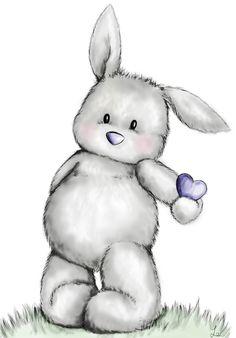 Esta conejita, llamada Nona, es la mascota y logo de Nonabox. Descubre nuestra empresita para embarazadas y mamás en www.nonabox.com - #ilustracion #illustration #illo #rabbit #bunny #conejo #infantil #animal #cute #corazon #conejito #shy
