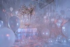 fantasy wedding filled with pearlized balloons