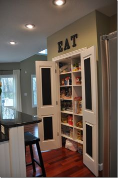 inside door decor, the doors, pantri door, eat letter, pantry doors