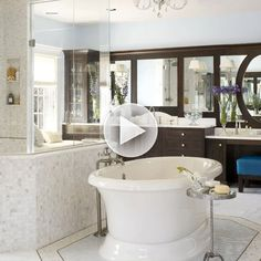 Get our designer tips for a stylish bathroom here: http://www.bhg.com/videos/m/83828501/designer-tips-from-luxe-rooms-bathrooms.htm?socsrc=bhgpin081214luxebathrooms